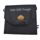 Travel Solar USB Charger 6W - New 2015 Model - Smaller size with high efficiency Sunpower Cells - Intelligent controller for Apple devices, iPhone, iPad, Minirig