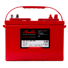 Rolls Solar 12V 106Ah Flooded Battery S-105 Rolls 4000, 106Ah (C100) , 72Ah (C10)
