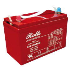 Rolls Solar 12V AGM 128Ah Battery S12-128AGM Rolls AGM Series 5, 128Ah (C100), 104Ah (C10)