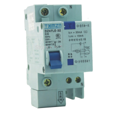 6A AC RCBO DIN Mount Breaker 230V Over current and Leakage protection use from Inverter