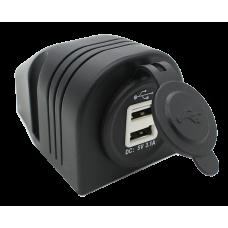 12V Dual USB socket, surface mount 5V 3.1A cigarette lighter socket