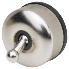 Chrome Toggle Switch surface mount for 12V lighting