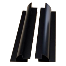 Aluminium Long Black Mounting Brackets 550mm Pair (set of 2) - Great For Vans or Boats.