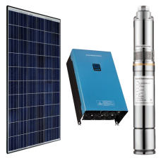 500w DC Solar Water Pumping Kit with 2 x 340W Solar Panels, Inverter and Pump