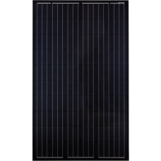 12V 305W complete solar kit with one JA Black Mono panel, MPPT controller, 105ah battery and mountings